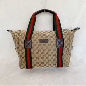 NWT Authentic Gucci GG Canvas Convertible Tote Bag